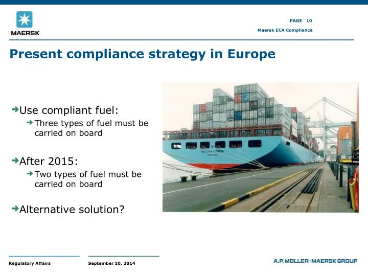 Present compliance strategy in Europe