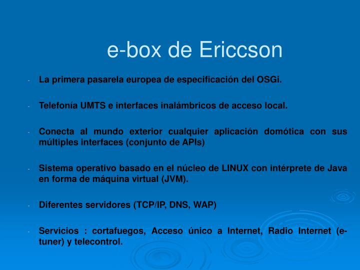 e-box de Ericcson