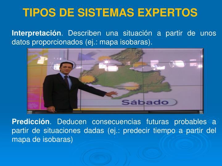 TIPOS DE SISTEMAS EXPERTOS