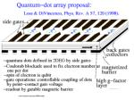 quantum dot array proposal