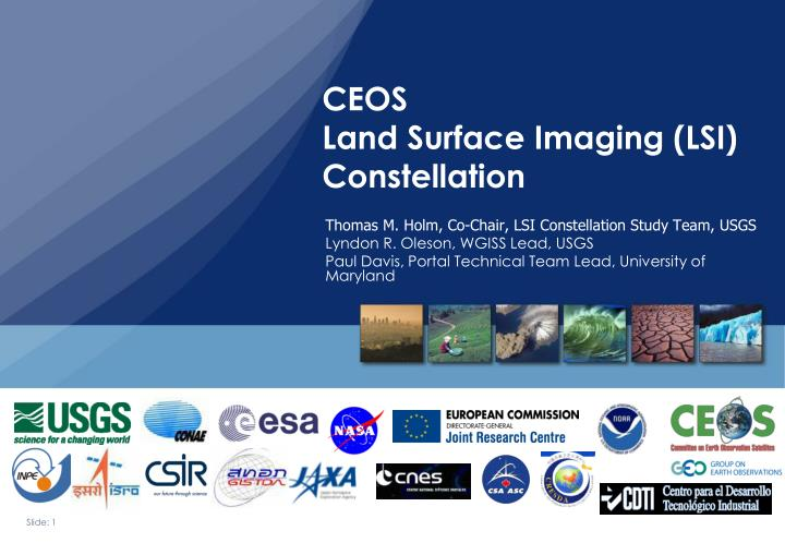 ceos land surface imaging lsi constellation n.
