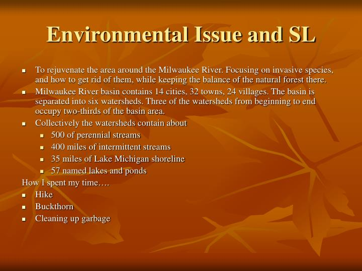 Environmental Issue and SL