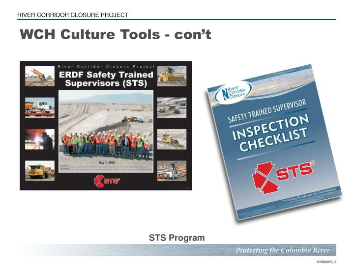 WCH Culture Tools - con't