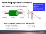 open loop systems examples