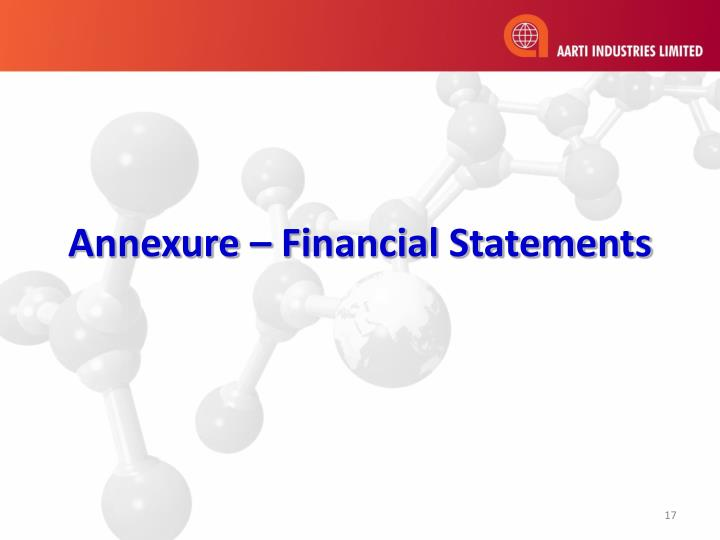 Annexure – Financial Statements