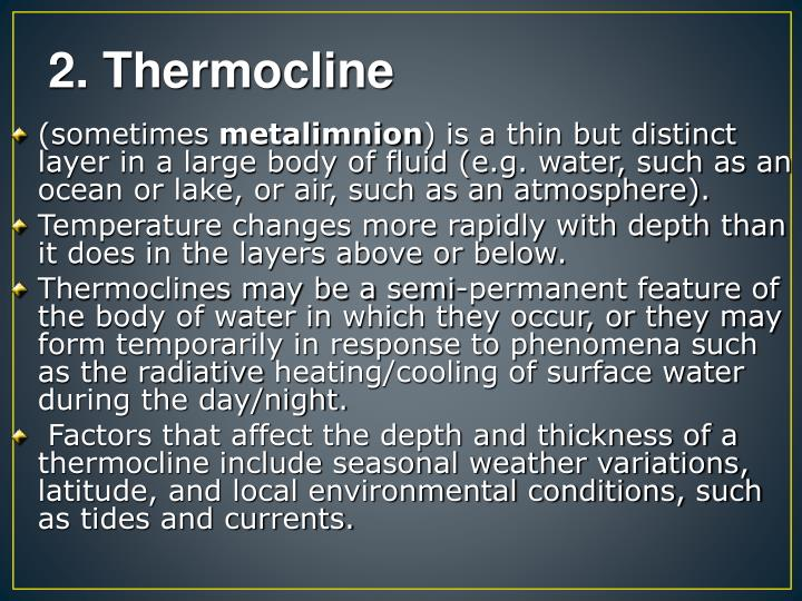 2. Thermocline