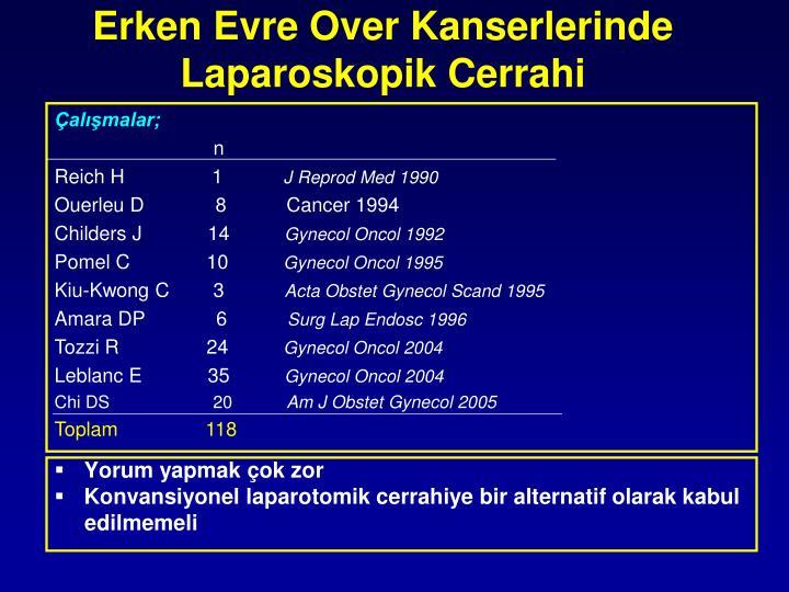 Erken Evre Over Kanserlerinde Laparoskopik Cerrahi