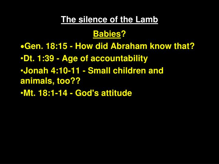 The silence of the lamb2