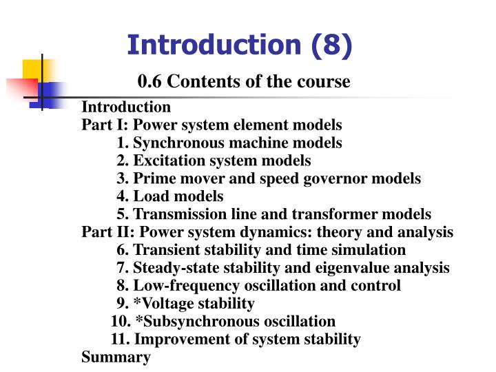 Introduction (8)