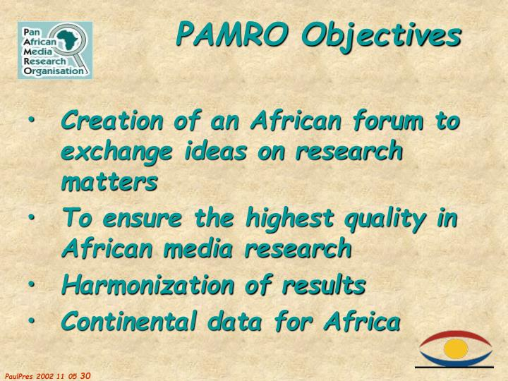 Creation of an African forum to exchange ideas on research matters