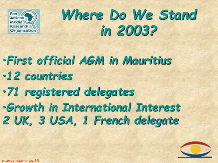 First official AGM in Mauritius