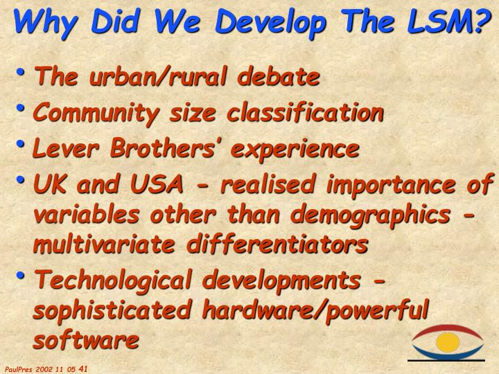 The urban/rural debate