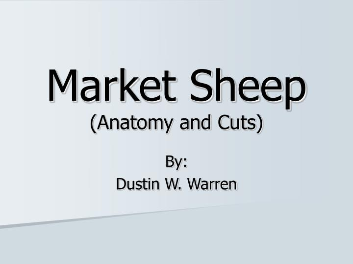 Ppt Market Sheep Anatomy And Cuts Powerpoint Presentation Id