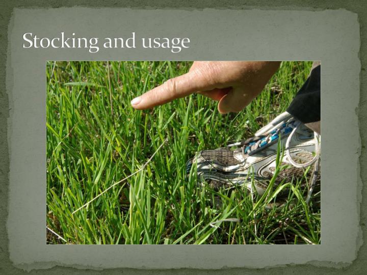 Stocking and usage
