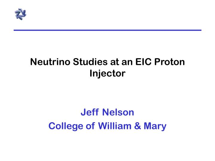 neutrino studies at an eic proton injector n.