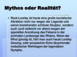 mythos oder realit t
