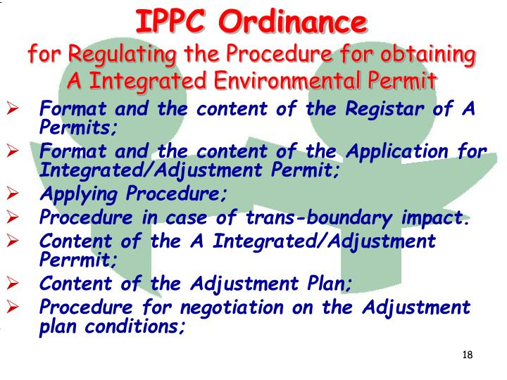 IPPC Ordinance
