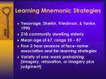 learning mnemonic strategies