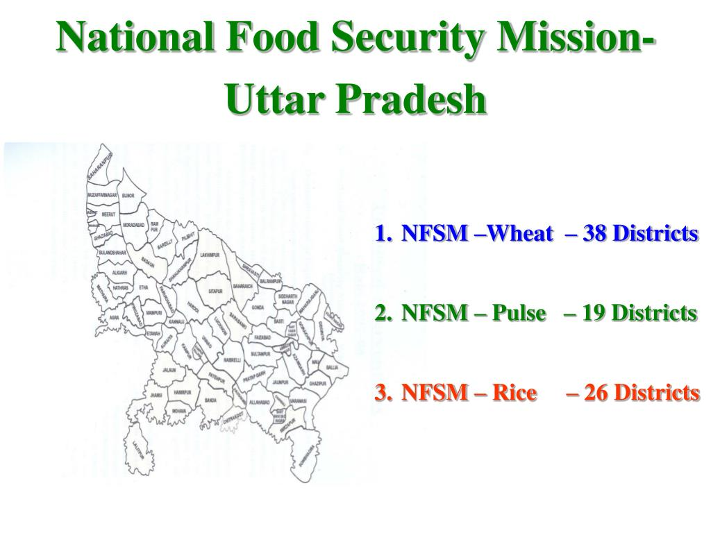 PPT - National Food Security Mission Uttar Pradesh Dated