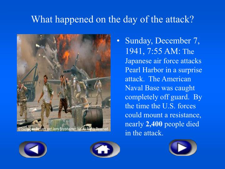 What happened on the day of the attack?