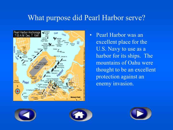 What purpose did Pearl Harbor serve?