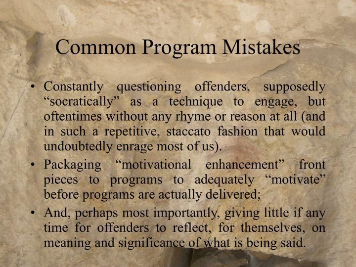 Common Program Mistakes