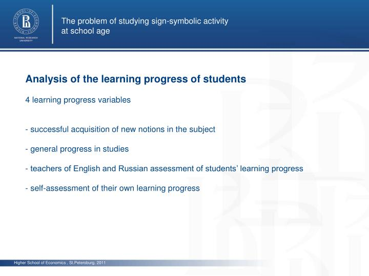 The problem of studying sign-symbolic activity
