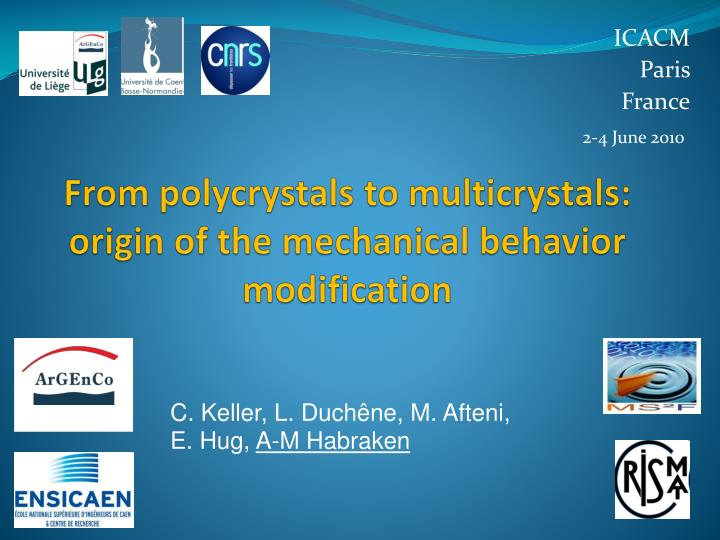 From polycrystals to multicrystals origin of the mechanical behavior modification
