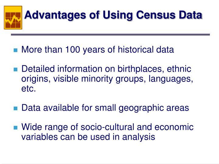 Advantages of Using Census Data