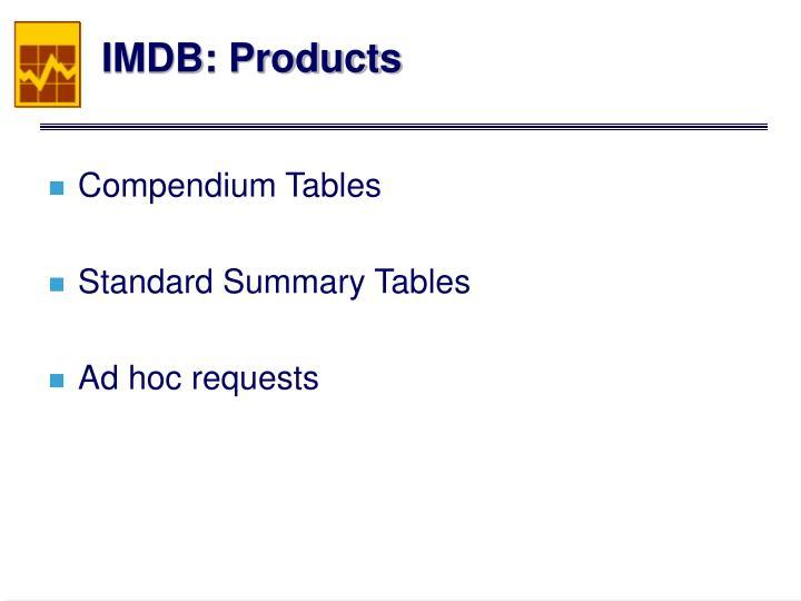 IMDB: Products
