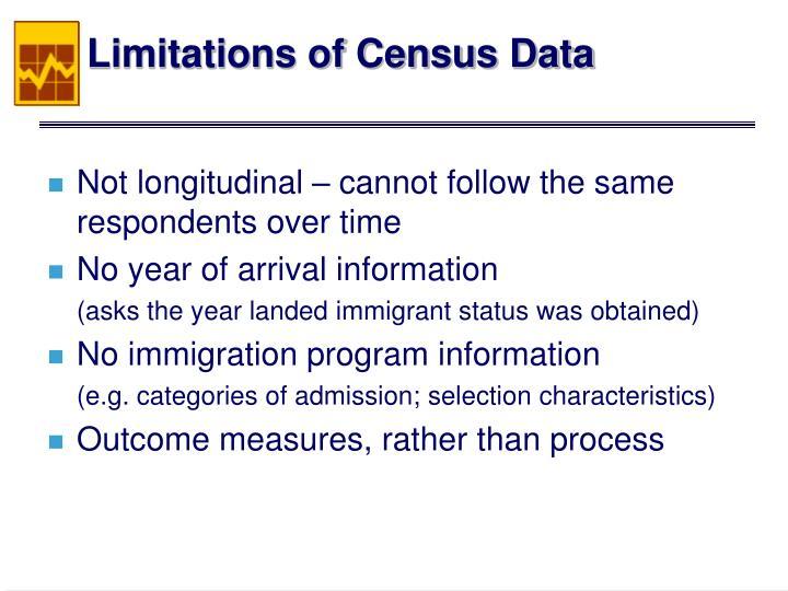 Limitations of Census Data