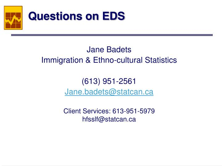 Questions on EDS