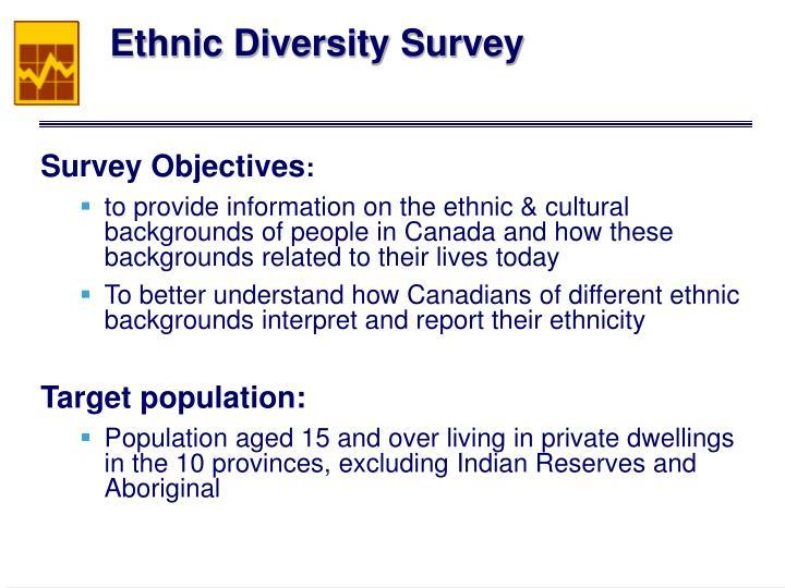 Ethnic Diversity Survey