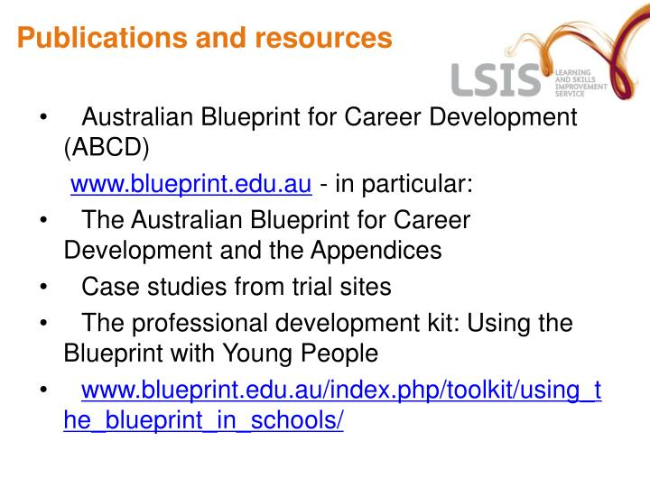 Ppt aims of the seminar powerpoint presentation id4220979 publications and resources australian blueprint for career development abcd malvernweather Image collections