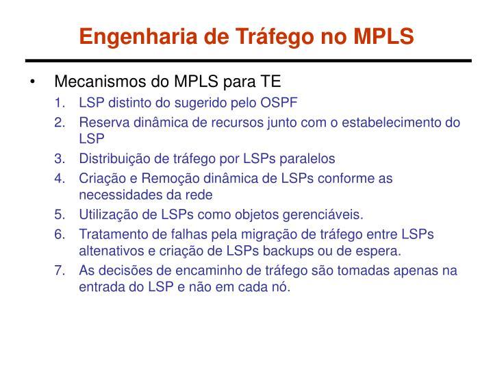 Engenharia de Tráfego no MPLS
