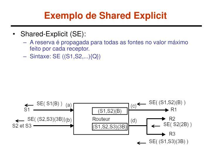 Exemplo de Shared Explicit