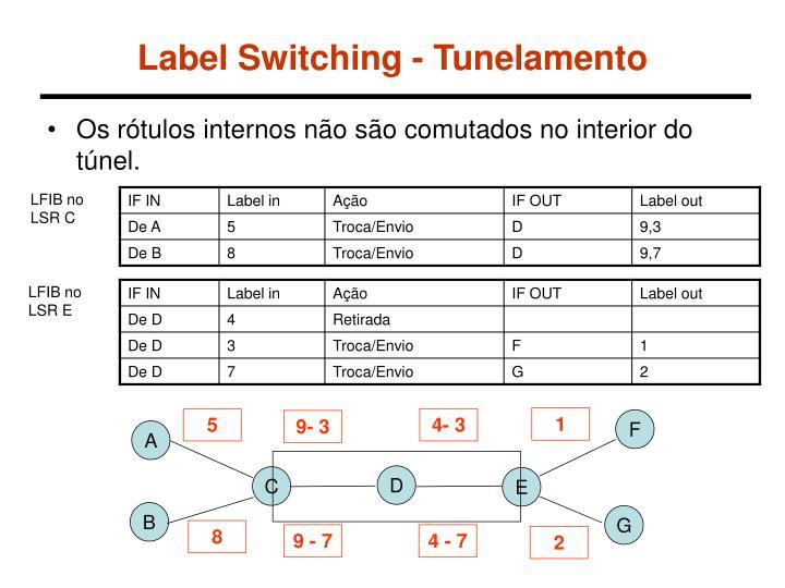 Label Switching - Tunelamento