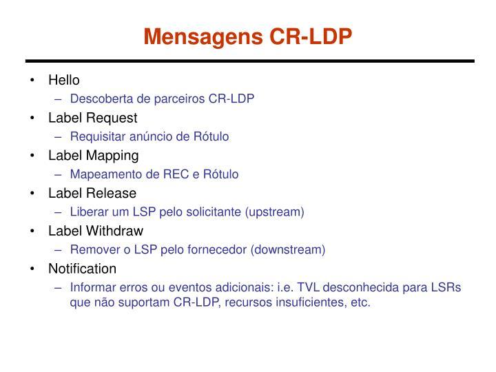 Mensagens CR-LDP