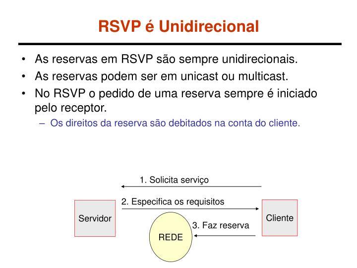 RSVP é Unidirecional