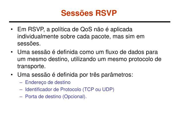 Sessões RSVP