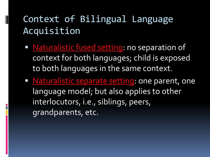 motherese in language aquisition Undeniably, the language input and motherese to which is child is subject to is influenced by the child's characteristics (yoder & kaiser, 1989) motherese may also serve to aid a child in the acquisition and comprehension of language particular rules which are otherwise largely unpredictable principles.