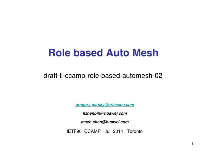 role based auto mesh n.