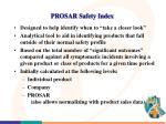 prosar safety index