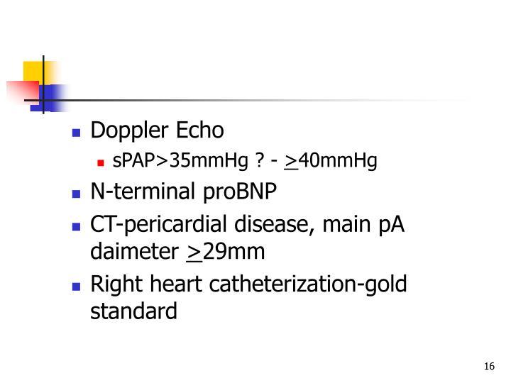 Doppler Echo