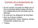 contrato de arrendamiento de servicios