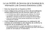 la ley 34 2002 de servicios de la sociedad de la informaci n y de comercio electr nico lssi