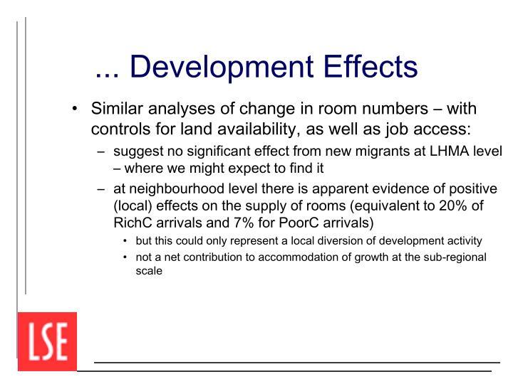 ... Development Effects