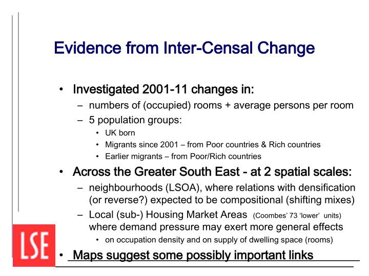 Evidence from Inter-Censal Change
