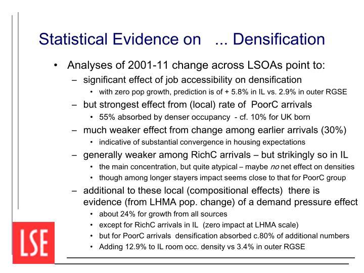 Statistical Evidence on   ... Densification