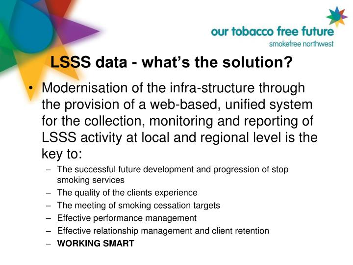 LSSS data - what's the solution?